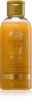Avon Planet Spa Radiant Gold rozjasňujúci telový a masážny olej s trblietkami