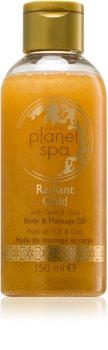 Avon Planet Spa Radiant Gold rozświetlająco - połyskujący olejek do ciała i masażu