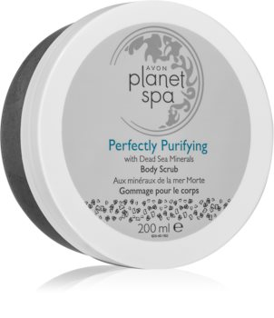 Avon Planet Spa Perfectly Purifying esfoliante detergente corpo con minerali