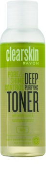 Avon Clearskin Pore & Shine Control Dieptereinigende Gezichtswater  met Verkoelende Werking