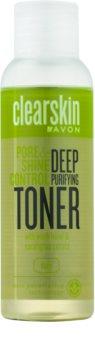 Avon Clearskin  Pore & Shine Control globinsko čistilna voda za obraz s hladilnim učinkom