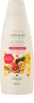 Avon Naturals Hair Care champô e condicionador 2 em 1