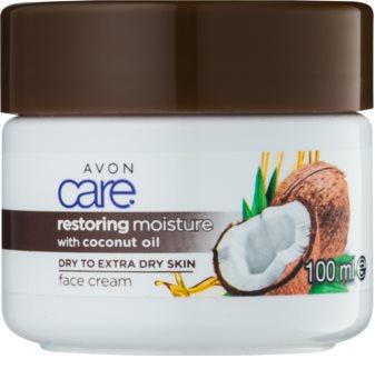 Avon Care nawilżający krem do twarzy Z olejkiem kokosowym.