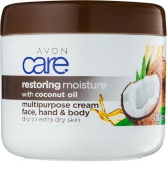 Avon Care зволожуючий крем для обличчя та тіла з кокосовою олійкою