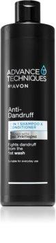 Avon Advance Techniques Anti-Dandruff shampoo e balsamo 2 in 1 contro la forfora