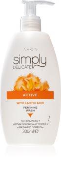 Avon Simply Delicate dámsky sprchový gél pre intímnu hygienu