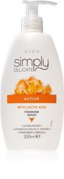 Avon Simply Delicate doccia gel per l'igiene intima femminile