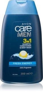 Avon Care Men 3 w 1 szmpon, odżywka i żel pod prysznic