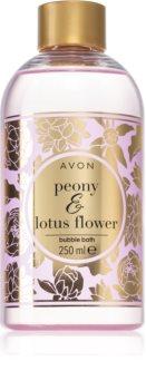 Avon Bubble Bath Peony & Lotus Flower schiuma da bagno con aroma di fiori