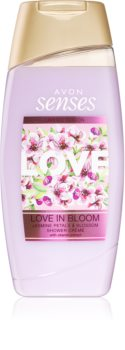 Avon Senses Love in Bloom душ крем с аромат на жасмин