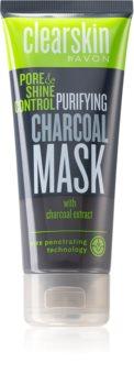 Avon Clearskin  Pore & Shine Control oczyszczająca maseczka z węglem