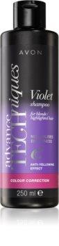 Avon Advance Techniques Colour Correction sampon violet pentru parul blond cu suvite