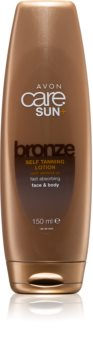 Avon Care Sun +  Bronze Selbstbräuner-Milch für Körper und Gesicht