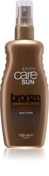 Avon Care Sun +  Bronze olio abbronzante in spray per corpo e viso