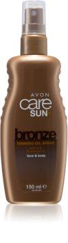 Avon Care Sun +  Bronze olje v pršilu za sončenje za telo in obraz