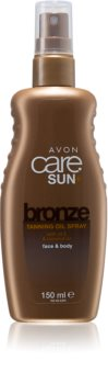 Avon Care Sun +  Bronze αντηλιακό λάδι σε σπρέι για  σώμα και πρόσωπο
