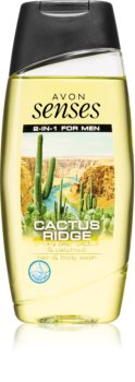 Avon Senses Cactus Ridge gel de banho para corpo e cabelo para homens