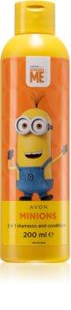 Avon Minions Minios champú y acondicionador 2 en 1 para niños