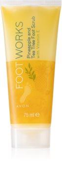 Avon Foot Works Pineapple and Tea Tree zmäkčujúca starostlivosť na popraskanú pokožku chodidiel s vitamínom E