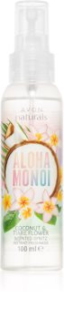 Avon Naturals Aloha Monoi освежаващ спрей за тяло