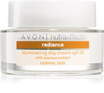 Avon Nutra Effects Radiance rozjaśniający krem na dzień SPF 20