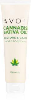 Avon Cannabis Sativa Oil крем для рук та тіла з конопляною олією