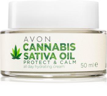 Avon Cannabis Sativa Oil cremă hidratantă cu ulei de canepa