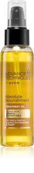 Avon Advance Techniques Absolute Nourishment подхранващо масло за коса с арганово масло