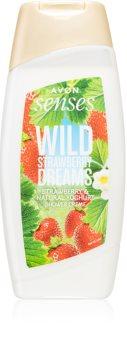 Avon Senses Wild Strawberry Dreams gel de duche suave com aroma de morangos