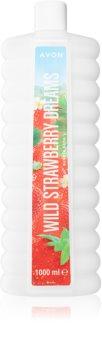Avon Bubble Bath Wild Strawberry Dreams Badschaum mit Erdbeerduft