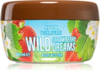 Avon Naturals Wild Strawberry Dreams nährende Body-Butter mit Erdbeerduft