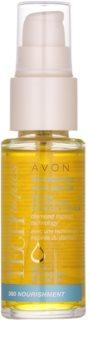Avon Advance Techniques 360 Nourishment подхранващ серум за коса с мароканско арганово масло