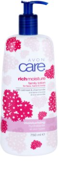 Avon Care leche corporal hidratante con manzanilla y extracto de avena