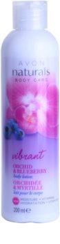 Avon Naturals Body Body lotion mit Orchidee und Blaubeere