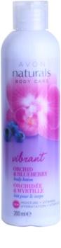Avon Naturals Body тоалетно мляко за тяло с орхидея и боровинка