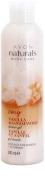 Avon Naturals Body освежаващ душ гел с ванилия и сандалово дърво