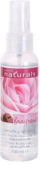 Avon Naturals Fragrance spray corporal com rosas e chocolate