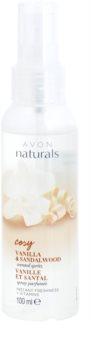 Avon Naturals Fragrance spray rinfrescante corpo alla vaniglia e legno di sandalo