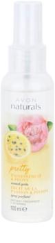 Avon Naturals Fragrance spray corporal com maracujá e piônia