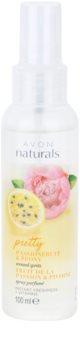Avon Naturals Fragrance spray corporal con maracuyá y peonía