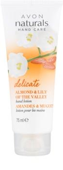 Avon Naturals Hand Care нежное молочко для рук с миндалем и ландышем