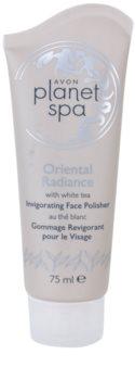 Avon Planet Spa Oriental Radiance frissítő peeling az arcra fehér teával