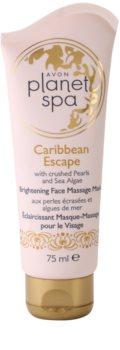 Avon Planet Spa Caribbean Escape rozjasňující pleťová masážní maska s výtažky z perel a mořských řas