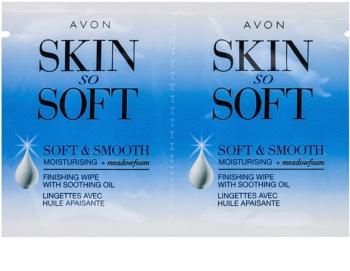 Avon Skin So Soft Smooth as bandas de cera para depilação para rosto