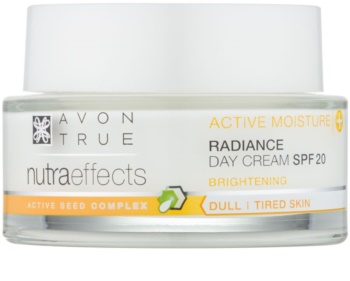 Avon True NutraEffects posvjetljujuća dnevna krema SPF 20