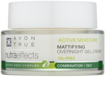 Avon True NutraEffects gel creme matificante de noite sem óleos