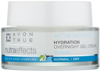 Avon True NutraEffects nočna gelasta krema za vlaženje in glajenje kože
