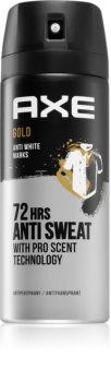 Axe Gold spray anti-transpirant pour homme