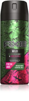 Axe Wild Fresh Bergamot & Pink Pepper Deodorant and Bodyspray