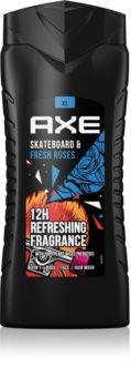 Axe Skateboard & Fresh Roses Refreshing Shower Gel for Men